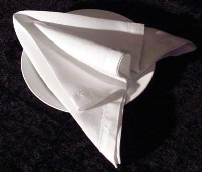 Arrow napkin folding instructions