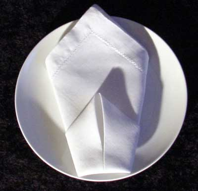 Folding Dinner Napkins The Cone Napkin Folding Instructions