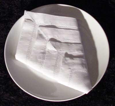 The Diamond cloth napkin folding design
