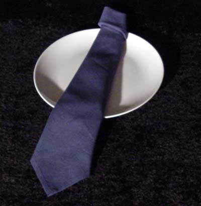 The Necktie napkin design