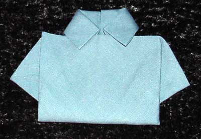 shirt napkin folding design
