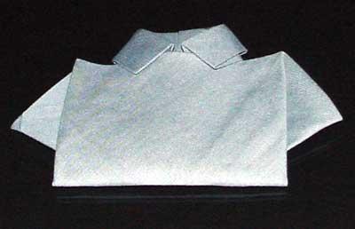 Finished Shirt Napkin Fold