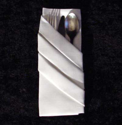 The Fancy Silverware Pouch Napkin Fold
