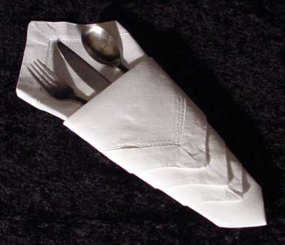 diamond silverware napkin fold