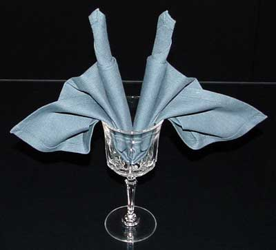 Finished Folded Napkin
