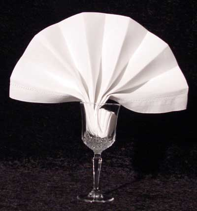 The Goblet Fan Napkin Fold
