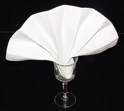 The Finished Goblet Fan Fold