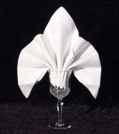 The Fleur De Lys Goblet Fold