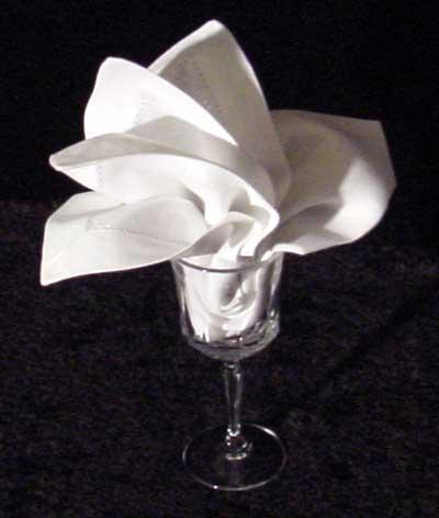The Goblet Lily Napkin Fold